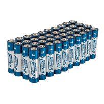 Pmaster - Lot de 40 Piles alcalines Super Lr6 type Aa - Lot de 40