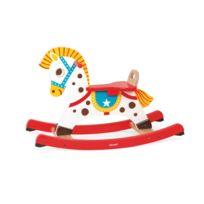 Alinéa - Punchy Cheval de cowboy à bascule en bois pour enfant