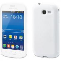 Muvit - Housse Minigel Glossy Blanc Samsung Galaxy Trend Lite