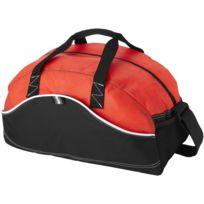 Rouge//Blanc d/élav/é Bagbase Mini sac polochon Taille unique
