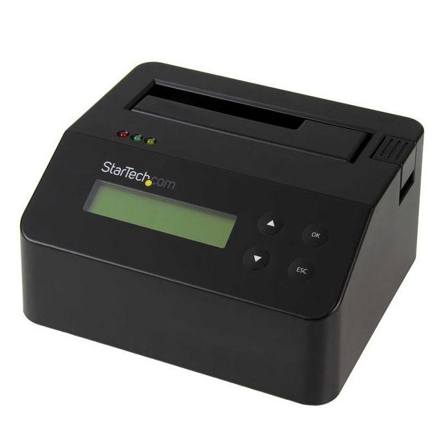 """StarTech.com Station d'accueil et effaceur USB 3.0 autonome pour disque dur SATA de 2,5"""" et 3,5 Prend en charge une imprimante série (RS232) pour l'impression de reçus et la confirmation de l'effacementAccès facile aux fichiers par USB 3.0 (5 Gb/s)"""