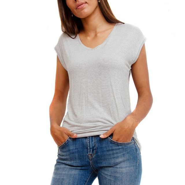 PIECES T-shirt blanc femme billo Multicouleur Xl