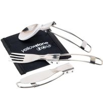 Yellowstone - Couverts 3piece folding cutleryset Gris 87394