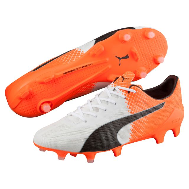 5bbccb2bb2ee Puma - Chaussures evoSpeed Sl Ii Tricks Fg blanc noir orange - pas cher  Achat   Vente Chaussures foot - RueDuCommerce