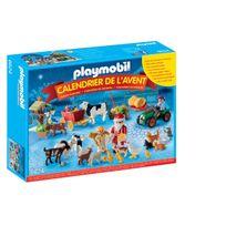 """Playmobil - Calendrier de l'Avent """"Père Noël à la ferme"""" - 6624"""