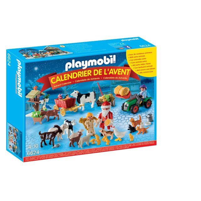 Playmobil Calendrier.Calendrier De L Avent Pere Noel A La Ferme 6624