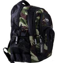 Rocambolesk - Superbe Sac à dos 34L Militaire - Sac École Sport Randonnée Voyage Camping - Camouflage neuf