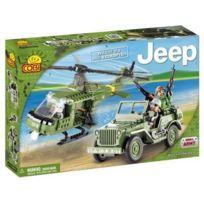 Cobi - 24254 Willys Mb avec helicoptere. 250 Pièces Jouet Jeu de Construction