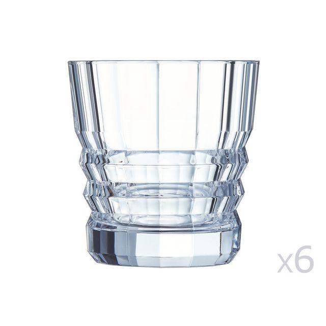 Cristal D'ARQUES Verre à whisky en cristallin 32cl - Lot de 6 Architecte