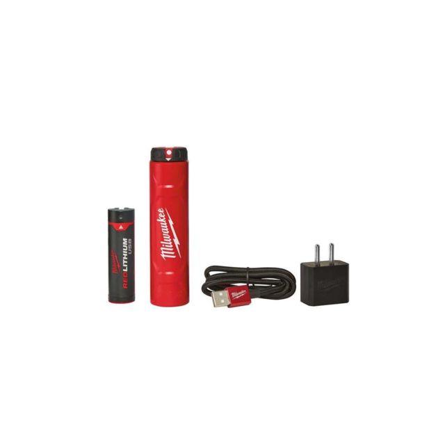 1 Chargeur avec c/âble USB 1 Adaptateur 4932459448 Milwaukee Pack Batterie et Chargeur pour /éclairages personnels L4NRG-201-1 Batterie 4V 2.5Ah