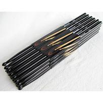 Sherwood - Lot de 12 paires de Baguettes 5B Noires en érable