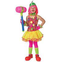 Funny fashion - Déguisement Princesse des Clowns - Fille - Taille : 6/8 ans 114 à 126 cm