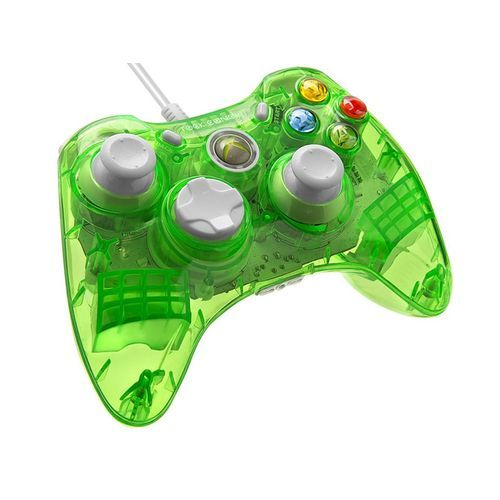 Console Xbox 360 Carrefour: Manette Filaire Rock Candy AQUALIME Verte