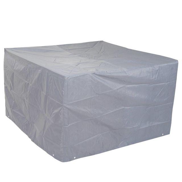 Mendler Housse de protection pour garniture de jardin, gaine de protection, gris ~ 75x120x120cm