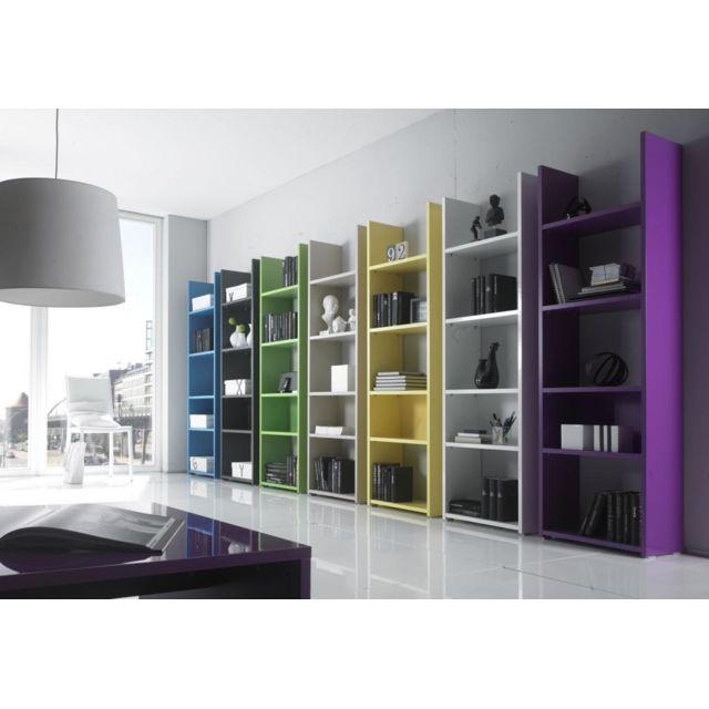 Kasalinea Etagère bibliothèque laqué design Constentine, sept couleurs au choix