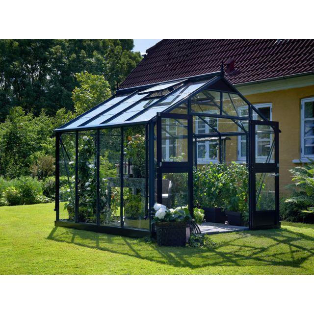 habitat et jardin serre verre premium gris anthracite 8 8 m 2 96 x 2 96 x 2 67 m pas. Black Bedroom Furniture Sets. Home Design Ideas