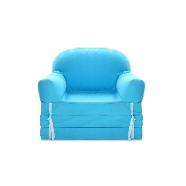 Miliboo - Chauffeuse convertible enfant bleu Noa - pas cher Achat ... 1210d6b51cb6