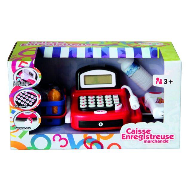 Imagin Caisse enregistreuse pour enfant - Accessoires de courses - Rouge