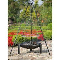 Cook - Maison De La Tendance - Grille sur trépied + brasero Palma,60cm Grille acier noir/ 70cm brasero