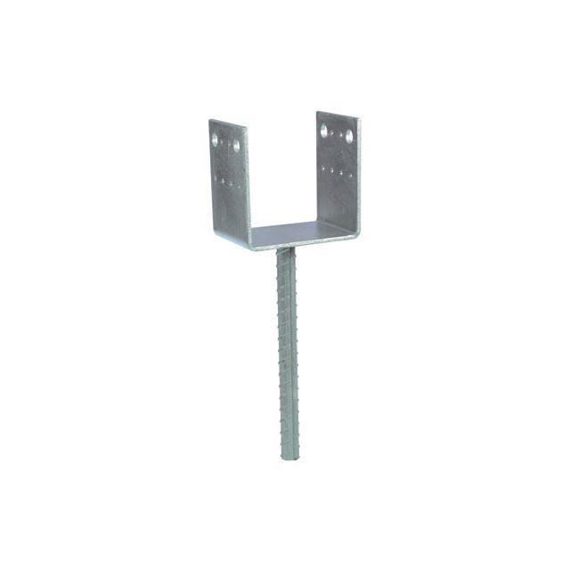 support sceller acier galvanis visser poteau gris x x cm vendu par leroy. Black Bedroom Furniture Sets. Home Design Ideas