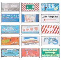 Faller - Modélisme Ho : Accessoires de décor : Clôtures et panneaux de barrage fête foraine