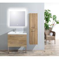 Meuble de salle de bain Atlantic bois clair L.35 x P.35cm
