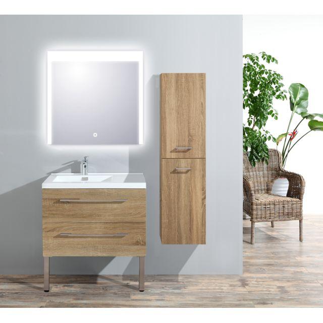 Colonne Meuble de salle de bain Atlantic bois clair L.35 x P.35 x H.135cm
