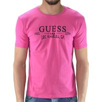 Guess - T Shirt Manches Courtes - Homme - Ucpm29 - Rose