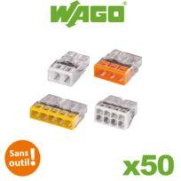 Wago - Pot panaché de 50 bornes de connexion automatique 2, 3, 5 et 8 entrées S2273