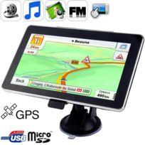 Wewoo - Gps voiture noir 7 pouces Tft Touch-Screen Gps Navigator, construit dans la mémoire de 4 Go, Mini Port Usb, stylet tactile, la diffusion de la voix, la fonction Radio Fm, Haut-parleur intégré, Résolutions: 800 x 480