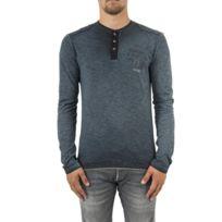 Kaporal 5 - Tee shirt manches longues kaporal ponio noir - pas cher ... 198d3595298f