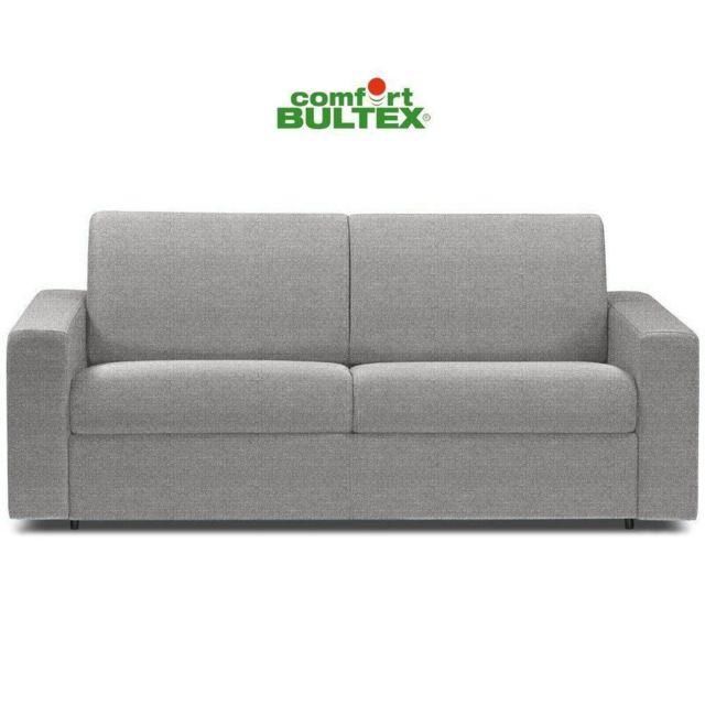 Inside 75 Canapé rapido CrÉPUSCULE matelas 140cm comfort Bultex® tweed fashion gris silver