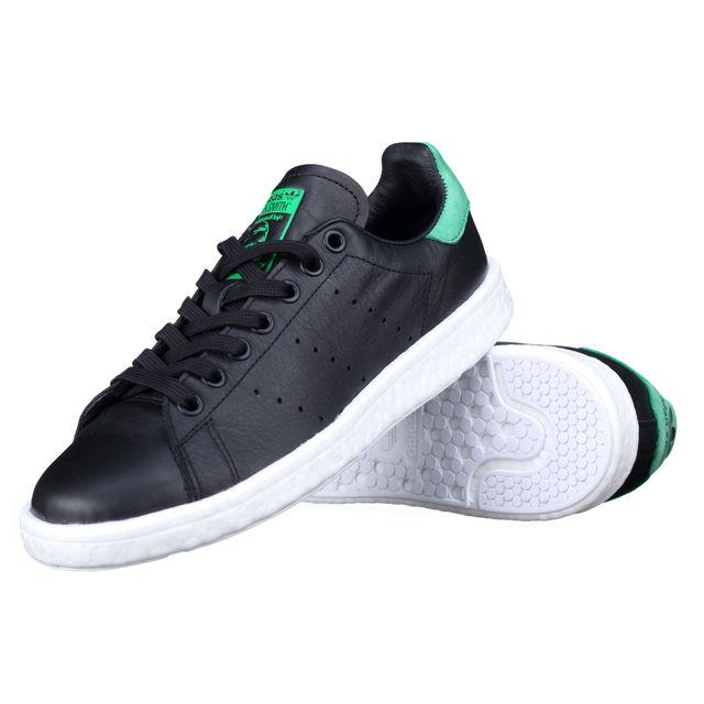 Détails sur Adidas Originals Stan Smith Boost Hommes Chaussures Baskets BB0009 Noir Vert