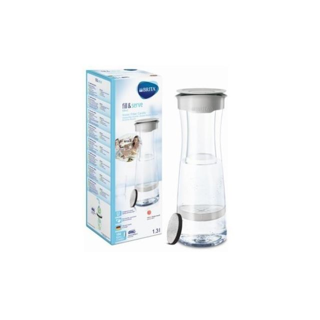BRITA Carafe filtrante Fill&Serve - 1031 311 - Gris perle