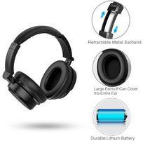 Alpexe - Casque Audio Bluetooth Over-Ear Design Ecouteur sans fil Bluetooth 4.0 Extra Bass Stereo Headphone avec Built-in Mic. Ergonomic Design Includes Hard Travel Case