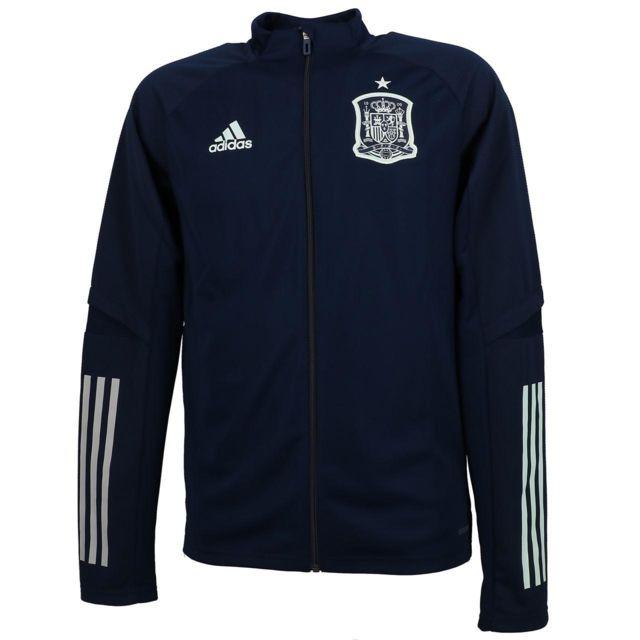 ADIDAS Vestes replica officielle Espagne veste h 2020 Bleu 56319