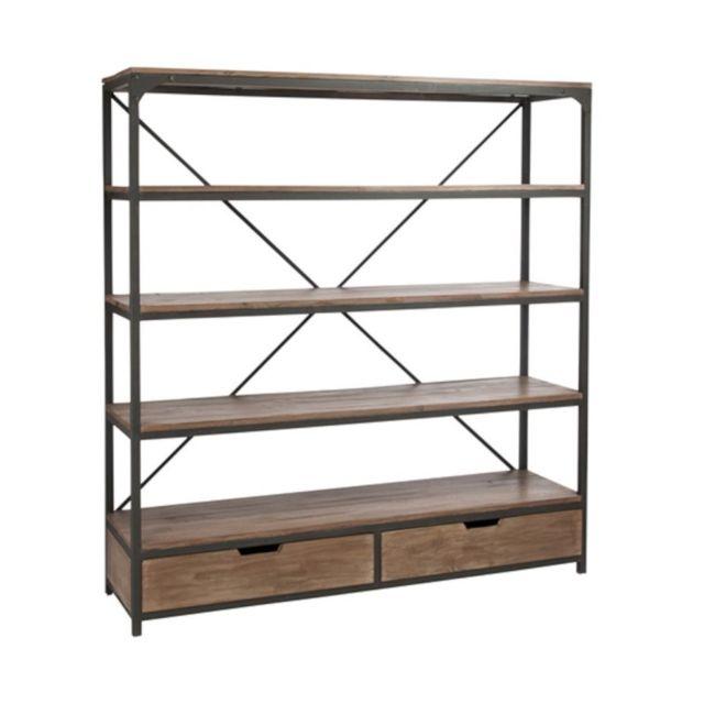 design and vintage grande tag re industrielle en bois. Black Bedroom Furniture Sets. Home Design Ideas