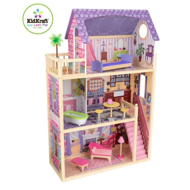kidkraft maison de poup es kayla pas cher achat vente maisons de poup es rueducommerce. Black Bedroom Furniture Sets. Home Design Ideas