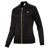 Puma - Veste de survêtement femme noire or