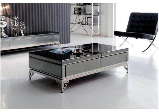 Declikdeco - Table basse en verre trempé noir Bora - pas cher Achat ... c993742066f5