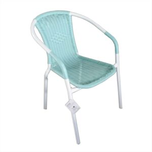 alin a lysia fauteuil de jardin vert aqua finition rotin tress pas cher achat vente. Black Bedroom Furniture Sets. Home Design Ideas