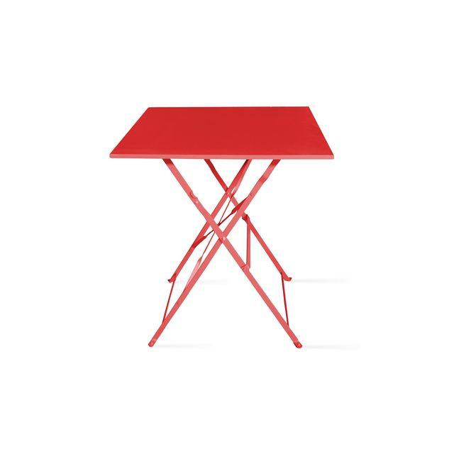Table de jardin pliante bistrot - Rouge