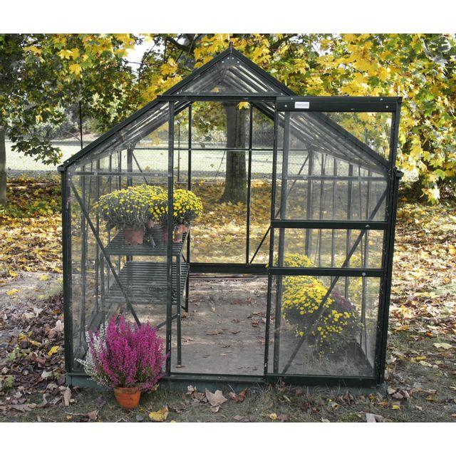 Chalet jardin linda 57 serre de jardin 5 77m pas cher achat vente serres en verre - Serre de jardin carrefour ...