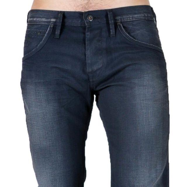 Pepe Jeans - Jeans Hoxton Pm200014E93 Noir 29 32 - pas cher Achat ... 5c25a19e7fae