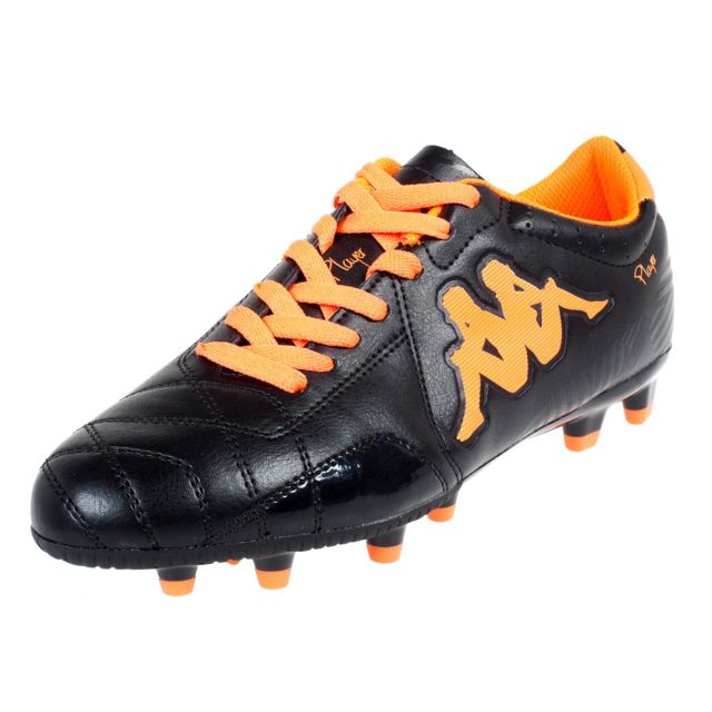 Kappa - Chaussures football moulées Kappa Player fg base noir orang Noir  49449 ce89d58b513ef