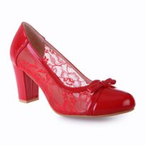 3e17c9dccda479 Soldes Escarpins rouge talon 8 cm - Achat Escarpins rouge talon 8 cm ...