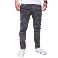 Marque Generique - Jeans tendance camouflage Jeans 3219 vert