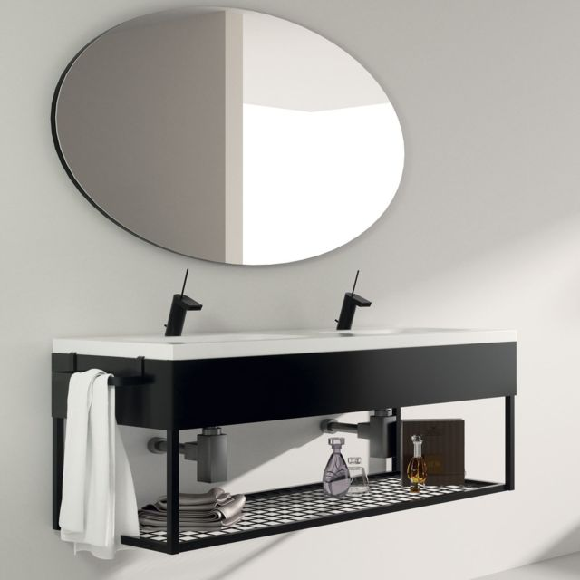 Aquae Line - Meuble salle de bain suspendu 120 cm + double vasque ...