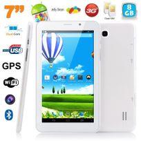 Yonis - Tablette tactile 3G 7 pouces Android 4.4 Dual core Sim Gps 8Go Blanc