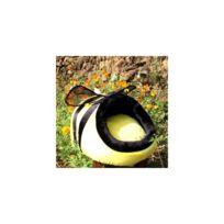 Auto-hightech - Niche de repos confortable pour chiot et chat de compagnie en forme d'abeille avec coussin intérieur amovible- Taille L